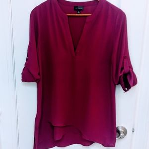 5/$25 The Limited Magenta Blouse Women's Size XS